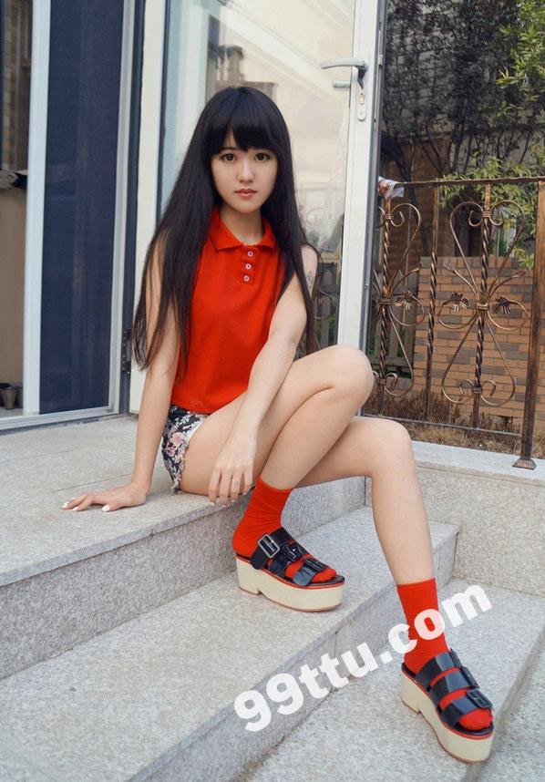 KK27 370张 黑发大眼可爱美女真实生活照-4