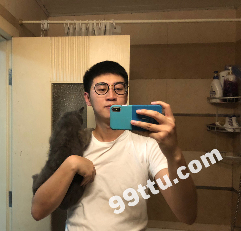 M46_男套图243照片(戴眼镜小年轻学生同一个人组图小青年男神微商朋友圈素材)-8