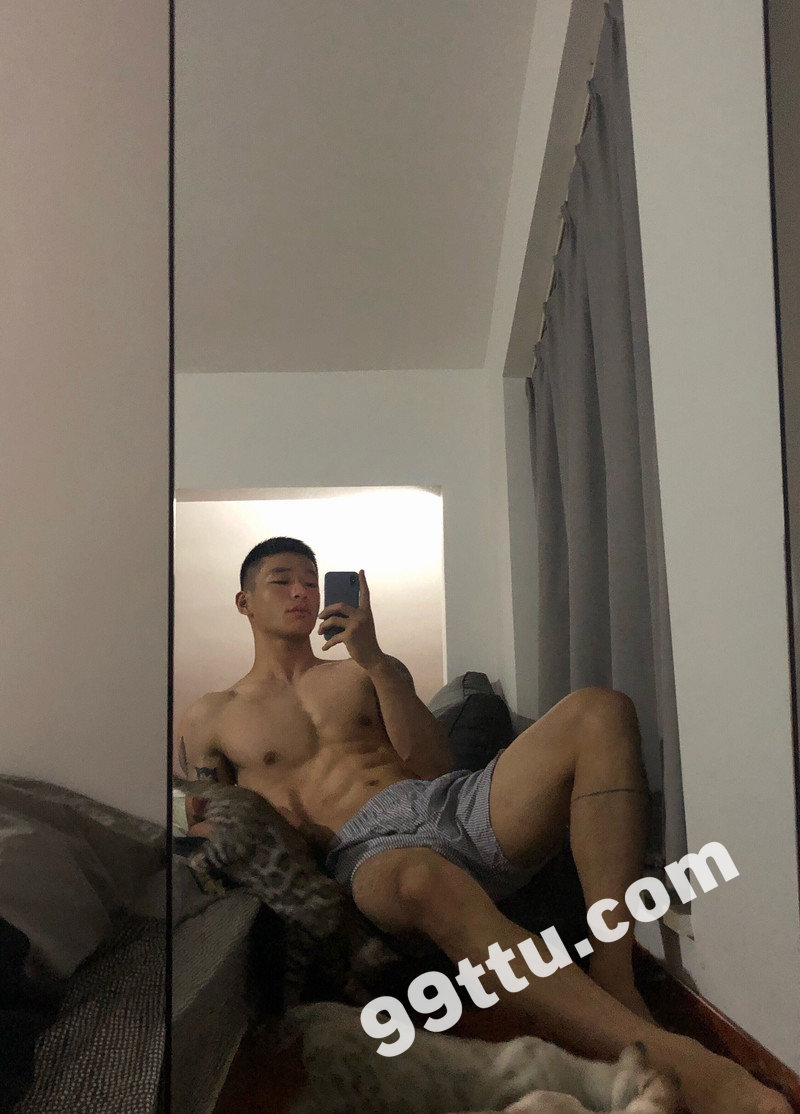 M50_男套图249照片(大胸肌好身材帅哥自拍照同一个人青年健身达人朋友圈微信素材)-6