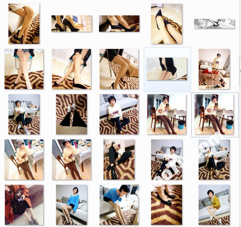 W32_女套图555照片+1视频(多腿照时尚性感诱惑可爱美腿丝袜—美女微信朋友圈整套一个人生活照)-16