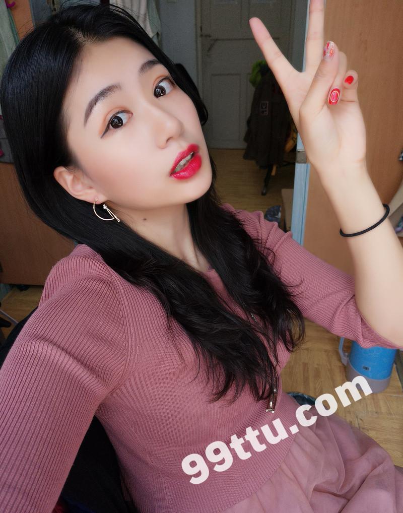 W69_女套图388照片+9视频(时尚青春可爱女生 素颜同一个人)-5